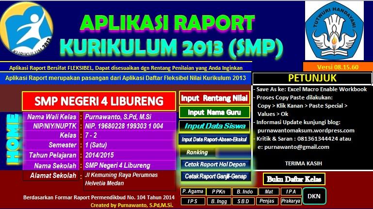 APLIKASI DAFTAR NILAI KURIKULUM 2013 V.0815 - Purnawanto ...