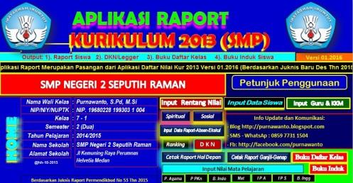 Aplikasi Raport SMP 2016