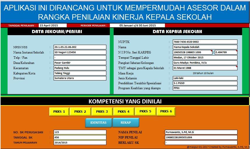 aplikasi penilaian kinerja kepala sekolah  pkks
